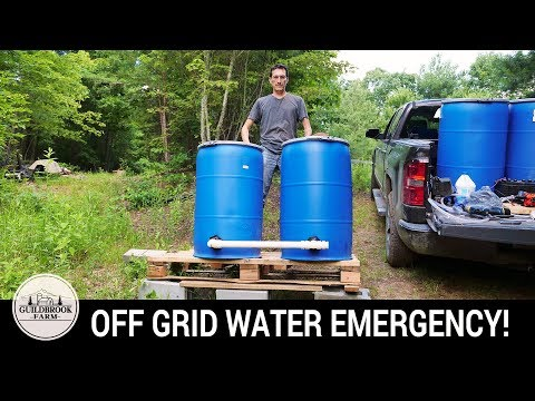 NO WATER...AGAIN! Will This Off Grid Gravity Fed Water System Work? (Part 1)