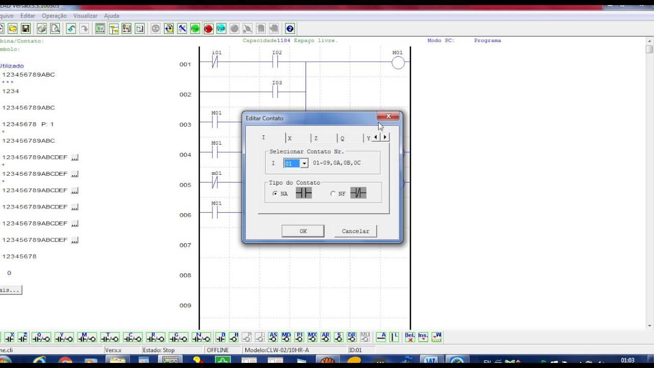 f440df62f4a Video - Clic -02 WEG- Programação Em Ladder Porta Automática. - YouTube