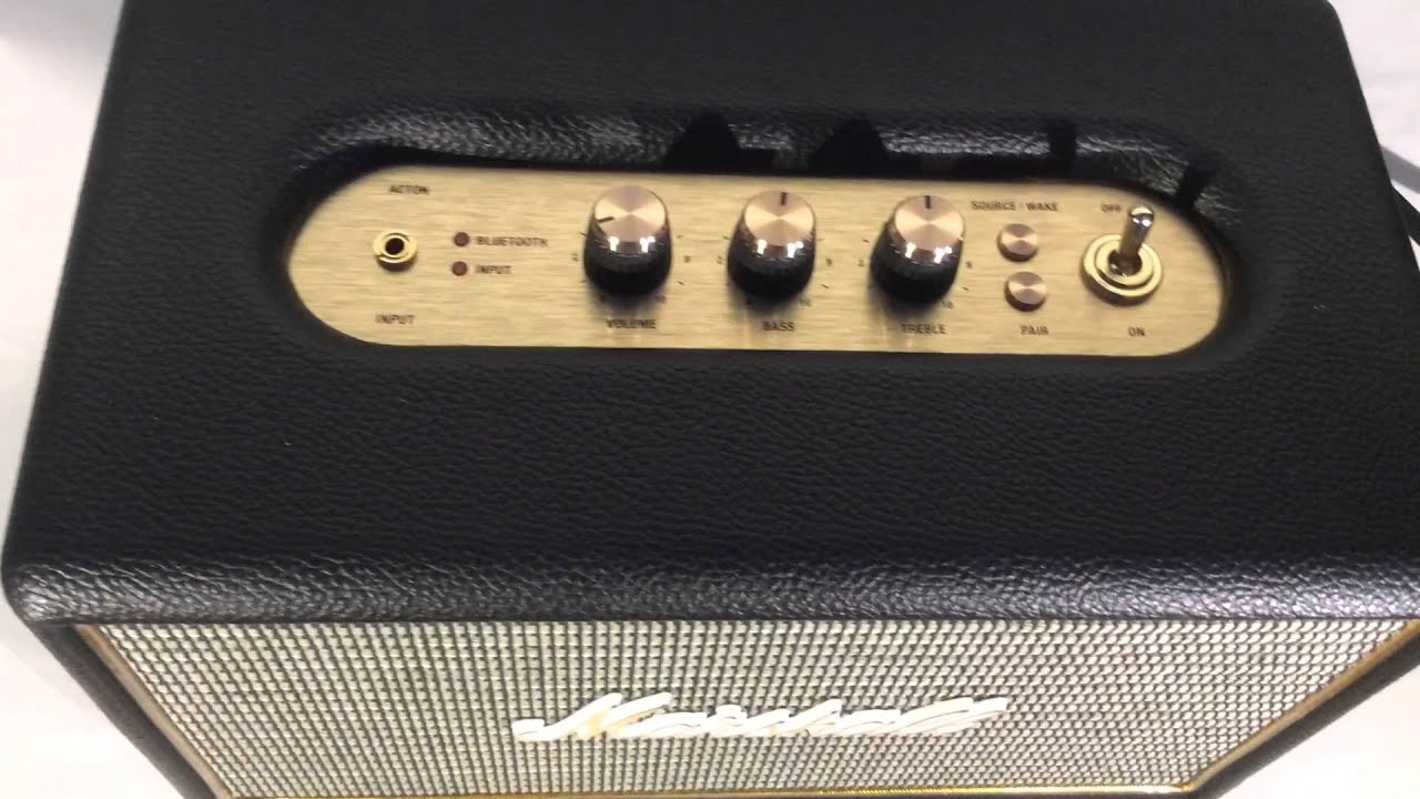 Marshall Acton Bluetooth Speaker - Review - YouTube 44079abe21dc0