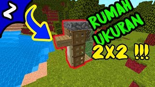 Cara Membuat Rumah Survival Minimalis Ukuran 2x2 di Minecraft PE/PC