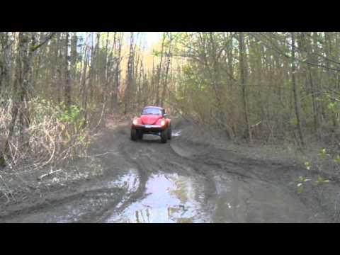 big bug big volkswagen vw offroad bug lifted mud puddles vw big bug volkswagen in the mud video