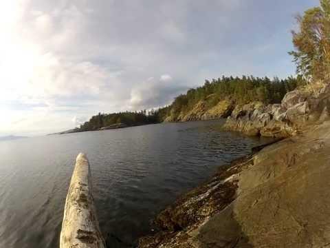 Relax Pacific Ocean shore BC Canada