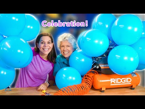 How to Fill Bunch O Balloons with an Air Compressor!