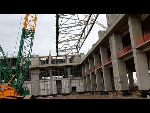 Erection of Long and Heavy Roof Steel Structure 1 -Selamettin DAYAN