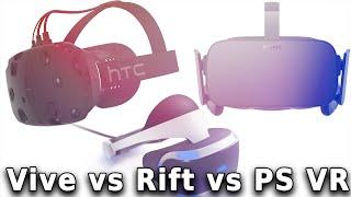 PlayStation VR vs Oculus Rift vs HTC Vive (Video Game Video Review)