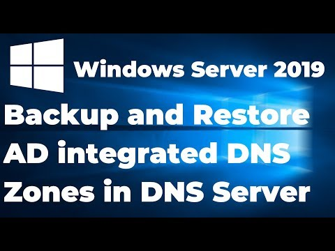 Backup And Restore AD Integrated DNS Zones In DNS Server