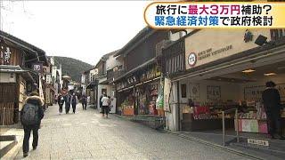 政府の緊急経済対策 旅行に最大3万円の補助を検討(20/03/26)
