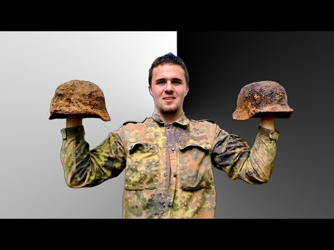 Amazing Metal Detecting Discovery WW2 German Helmets