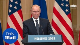 Watch Putin's full speech from Helsinki joint press conference