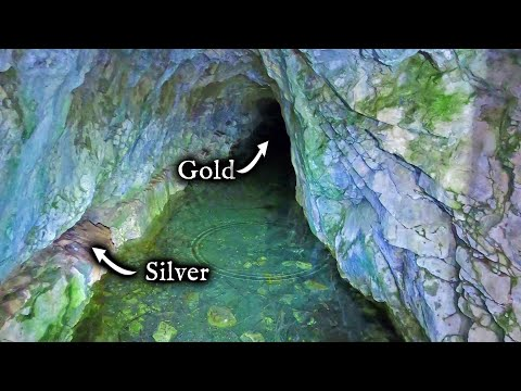 Found SILVER and GOLD exploring this abandoned mine.