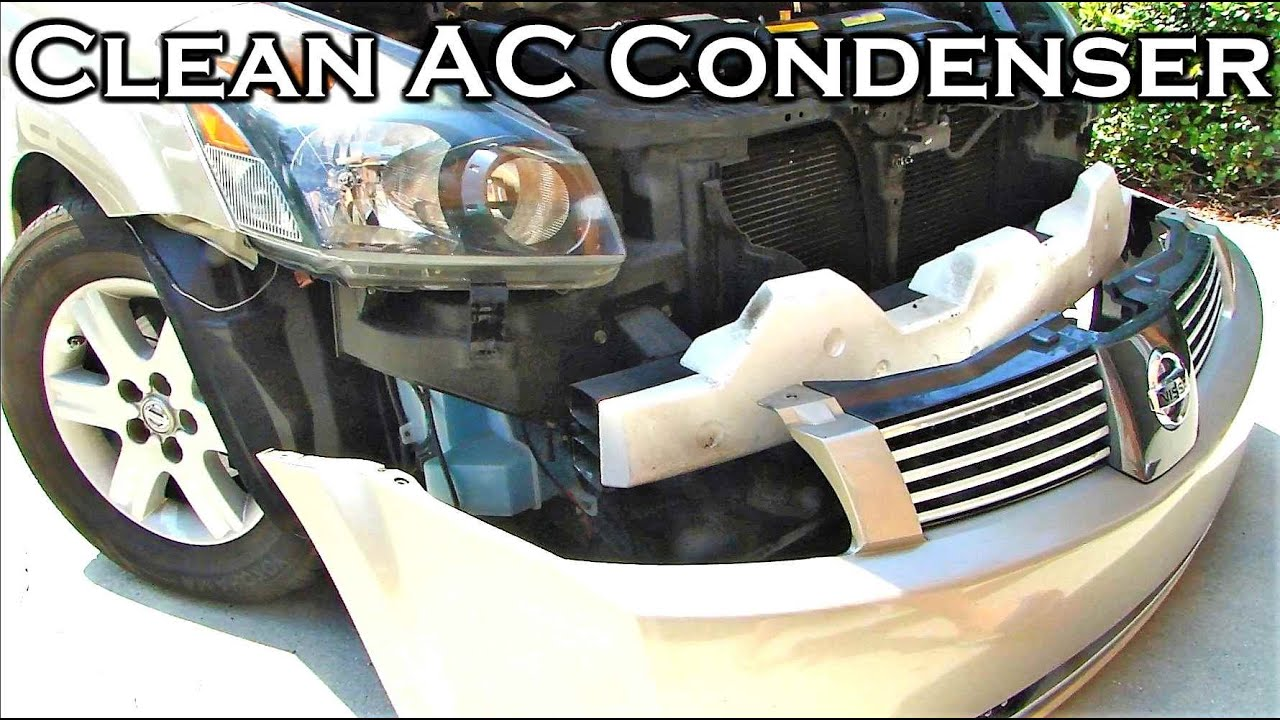 How To Clean Cars Ac Condenser Youtube Kampampn Filter Udara Toyota Kijang Karburator
