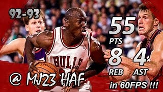 Michael Jordan Finals Career High Highlights 1993 Finals G4 vs Suns - 55pts! (HD 720p 60fps)