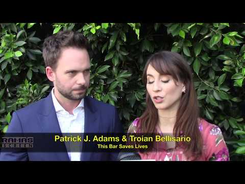THIS BAR SAVES LIVES   Patrick J. Adams and Troian Bellisario
