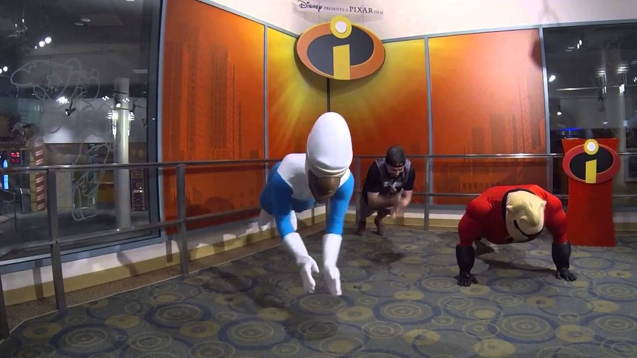 Push Up Challenge With Disney Characters Frozone And Mr Incredible Youtube