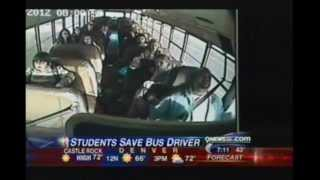 7th Grade kid saves out of control school bus