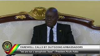 Farewell Calls by Outgoing Ambassadors