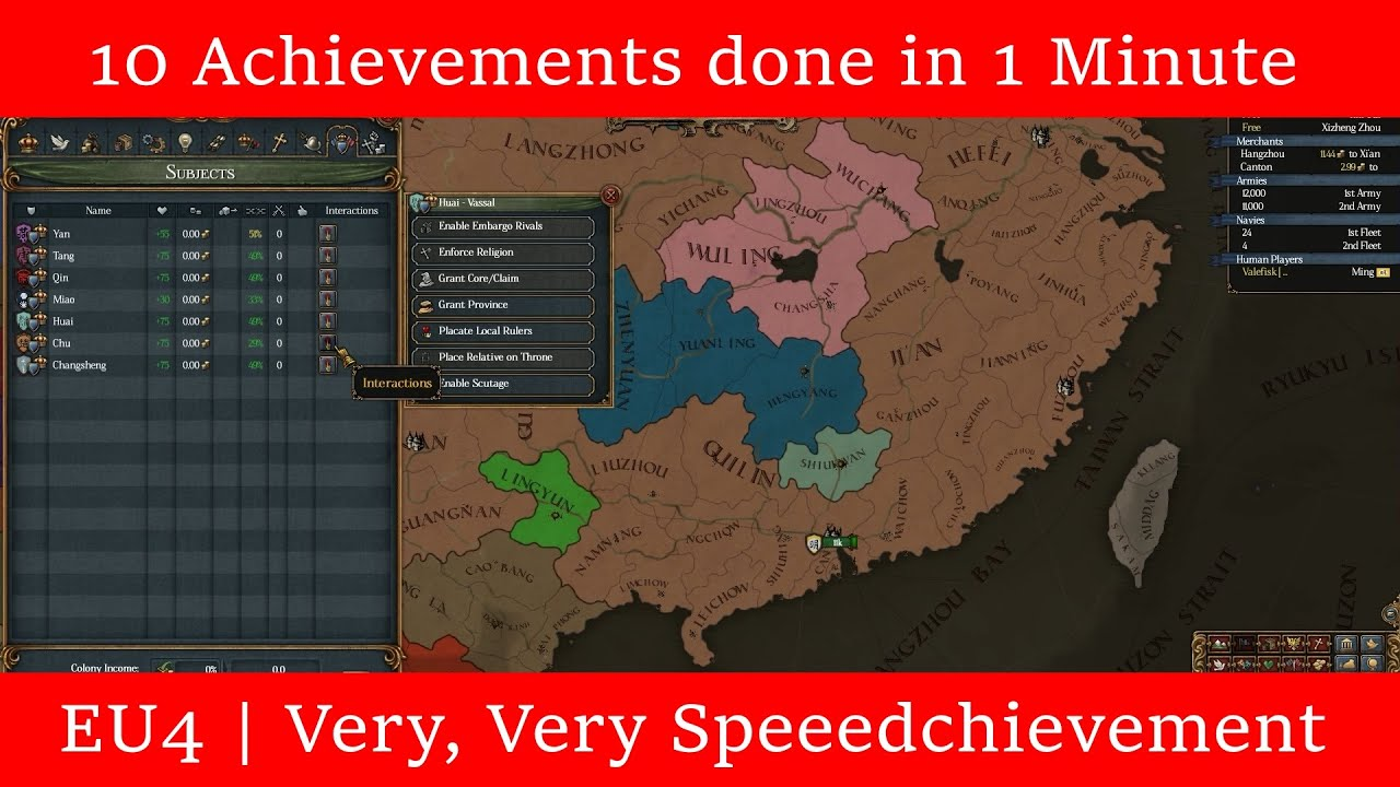 EU4 | 10 Achievements Done in 1 Minute Explained in 1 Minute