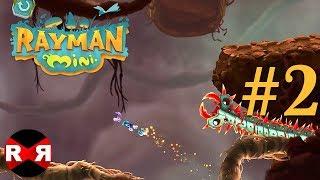Rayman Mini - Apple Arcade - WORLD 2 PERFECT Walkthrough Gameplay