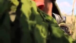 Война видео Жесть! БОЙ! Нацгвардия отбивает прорыв ополчения