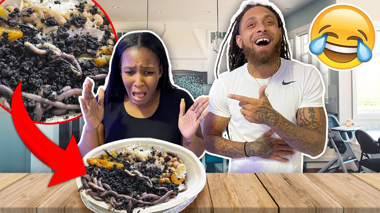I PUT LIVE WORMS IN GEORGIA'S DINNER REVENGE PRANK! *she went crazy*