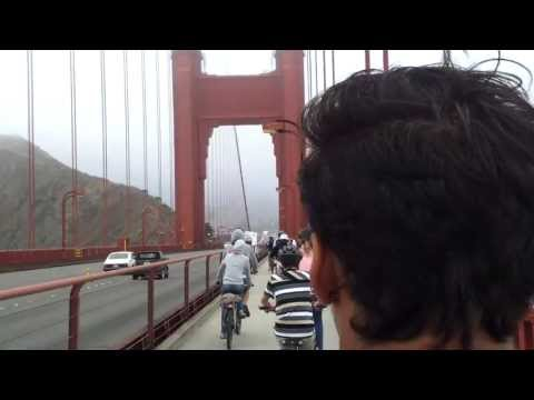 Andrea Minardi like a guide tour on Golden Gate Bridge - San Francisco
