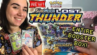 OPENING AN ENTIRE LOST THUNDER BOOSTER BOX! | NEW POKEMON CARDS & PULLING GOLD!