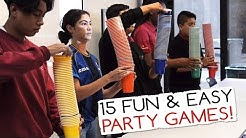 15 Fun & Easy Party Games For Kids And Adults (Minute to Win It Party)