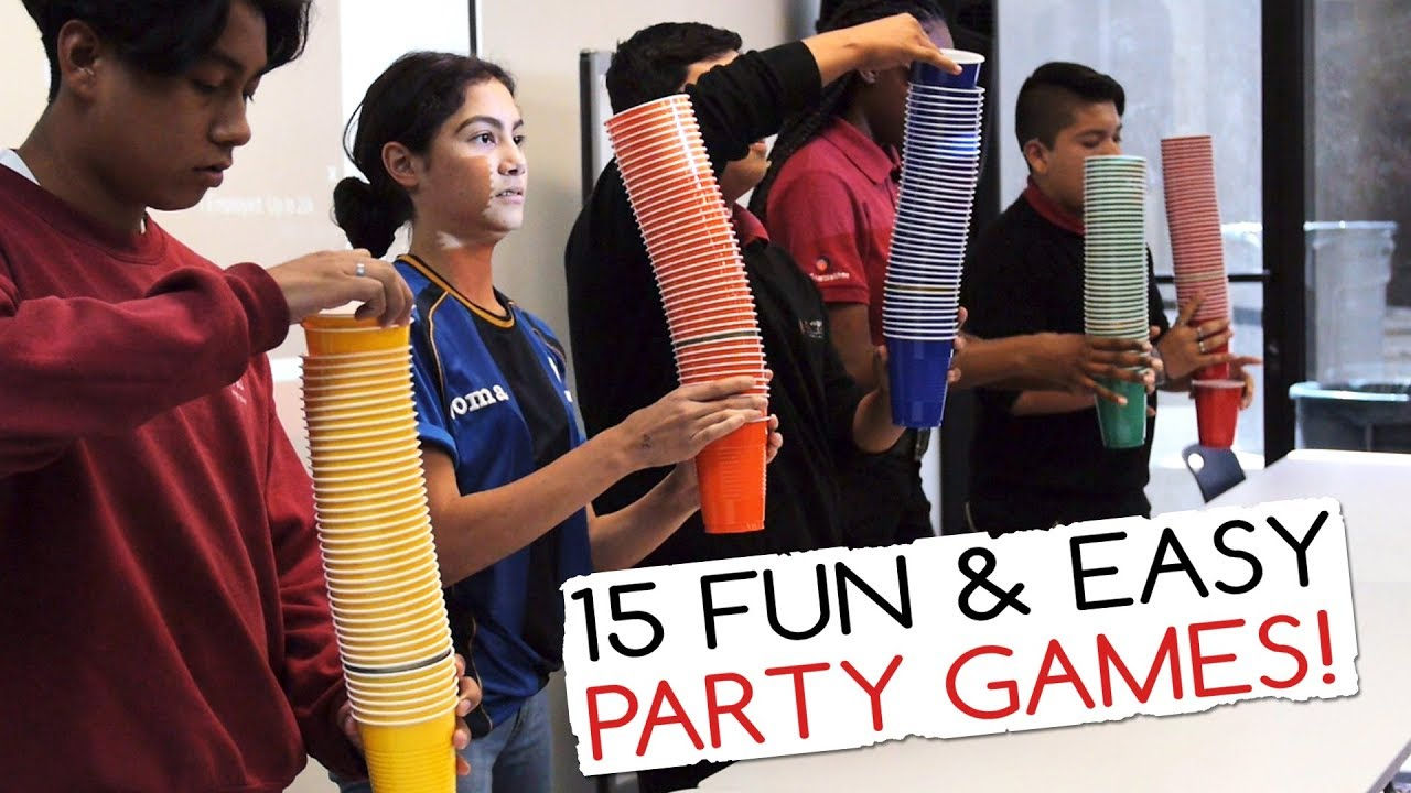 15 Fun Easy Party Games For Kids And Adults Minute To Win It Party
