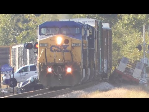 Thumbnail: [3i] CSX Train Q616-13 Crashes into Truck with Trailer in Statham, GA, 10/13/2016 ©mbmars01