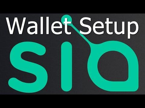 Siacoin Wallet - Installation, Address Setup & Basic Usage