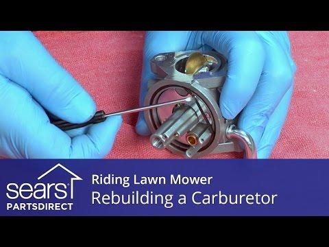 Rebuilding a Carburetor on a Riding Lawn Mower