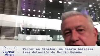 Terror en Sinaloa, se desata balacera tras detención de Ovidio Guzmán