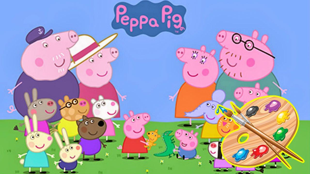 Coloriamo insieme disegni con peppa pig george mamma pig for Peppa da stampare