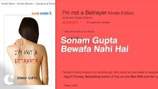 'Sonam Gupta Bewafa Nahi Hai' book available on Amazon