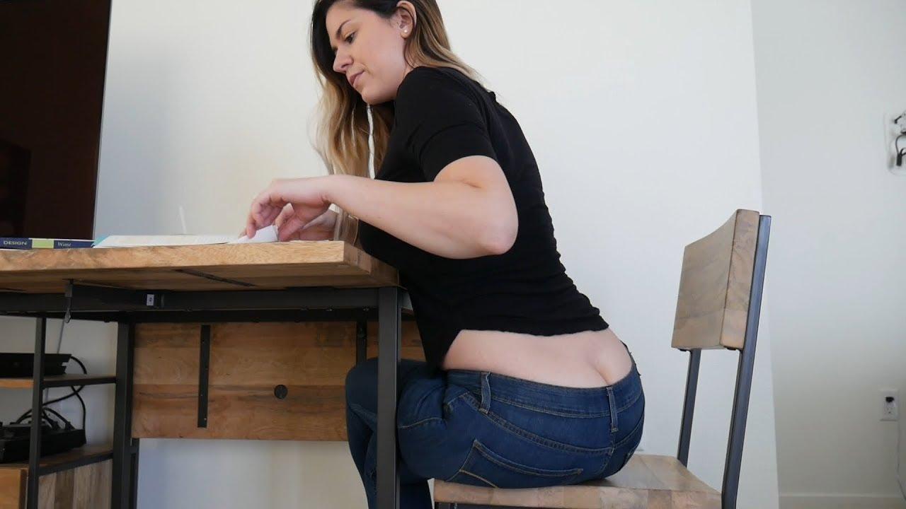 Teacher shows ass
