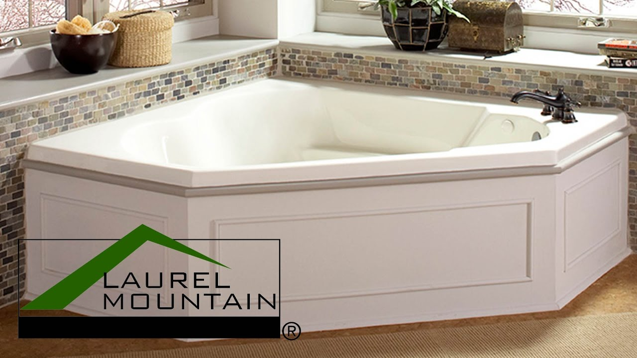 Custom Built Deep Soaking Tub by Laurel Mountain Whirlpools - YouTube