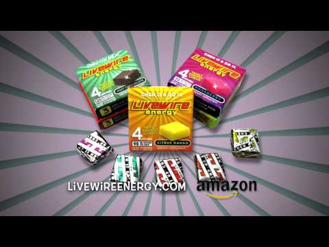 LiveWire Energy chews 12 hours per pack commercial