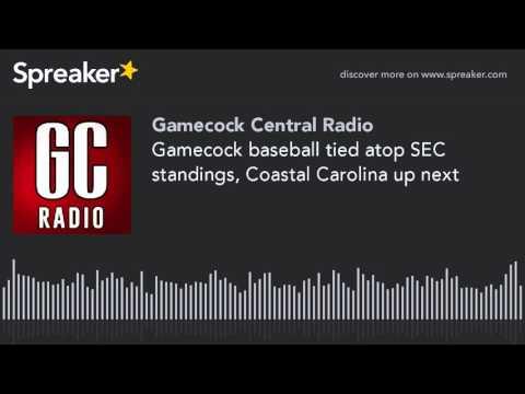 Gamecock baseball tied atop SEC standings, Coastal Carolina up next
