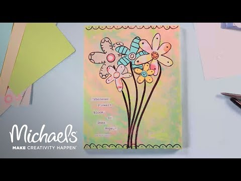 Join the Art Challenge: Paint Pouring for Mixed Media | Michaels
