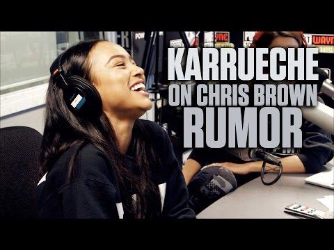 Karrueche On Chris Brown Rumor + Talks Kissing Marques Houston