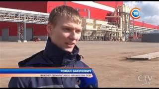 Александр Лукашенко посетил предприятие «Кроноспан ОСБ»