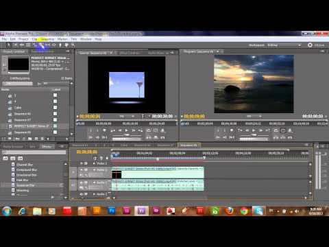 TV and Cube with Adobe Premiere