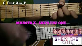 MONSTA X (몬스타엑스) She's The One Guitar Chord + Guitar Cover