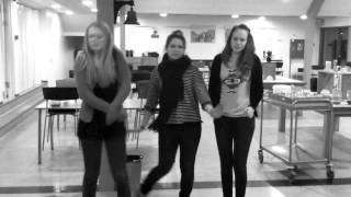 Elever på Grejsdalens Efterskole danser Gangnam Style