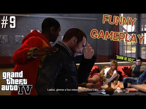"FUNNY ""GTA 4"" STORYMODE GAMEPLAY #9"