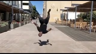 Blac Youngsta Does An Insane Backflip Proves He Use To Be A Gymnast