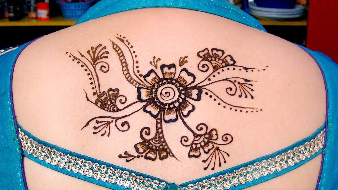 Mehndi Neck Tattoo : Mehndi designs for back simple hands easy