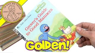 1950's Vintage Little Golden Books Childrens Reading Book Lot- Snow White, Sesame Street, Bugs Bunny