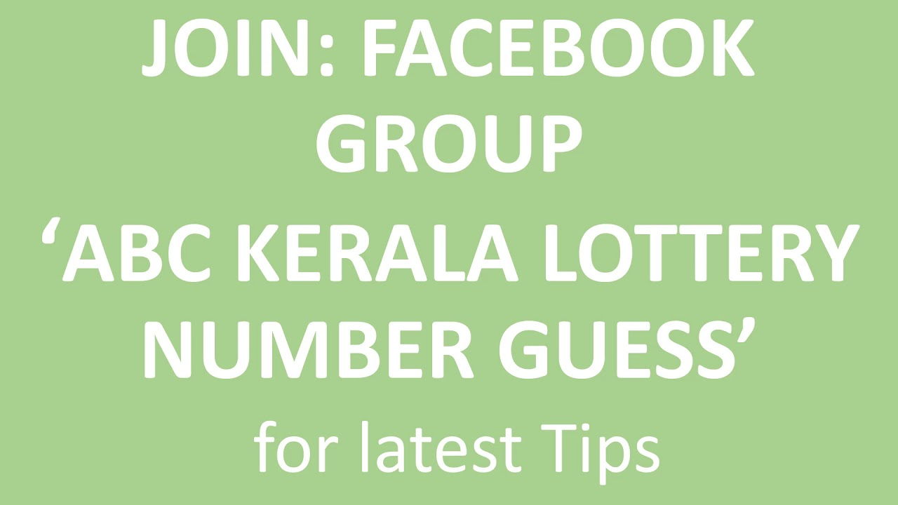 Kerala ABC Lottery Jumbo Tips and Tricks 10 October 2018 Tip No 122
