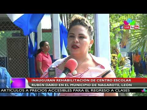 Inauguran Rehabilitación De Centro Escolar Rubén Darío En Nagarote En León